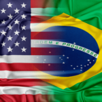 bandeira dos estados unidos e bandeira do brasil - comparativo