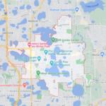 Imagem do mapa da cidade de Winter Park na Florida